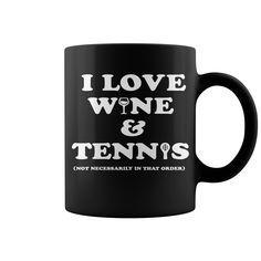 Wine And Tennis Tee HOT MUG : coffee mug, papa mug, cool mugs, funny coffee mugs, coffee mug funny, mug gift, #mugs #ideas #gift #mugcoffee #coolmug