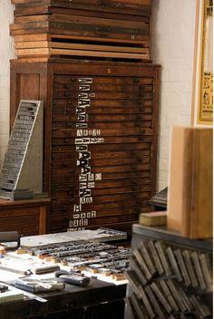 #letterpress #atelier #studio
