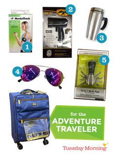 Fueling up and staying safe are priorities during adventure travel. Grab these essentials for an active trip! #TuesdayMorning