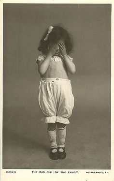 """The Bad Girl of the Family"" ~ Vintage Photo Postcard"