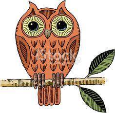 Owl drawing Royalty Free Stock Vector Art Illustration