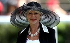 Helen Mirren - such a classy lady. Since she's wearing this crazy hat I'd have to say she was at Prince William and Kate Middleton's wedding.  jh