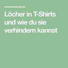 Löcher in T-Shirts und wie du sie verhindern kannst