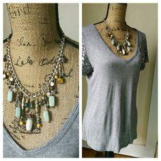 Boho Beaded Necklace- Cha Cha Necklace-Cascade Necklace-Boho Bead Necklace-Beaded Chain Necklace-Earthy Beaded Necklace-Boho Beaded Jewelry by SoulfulLeeYours on Etsy