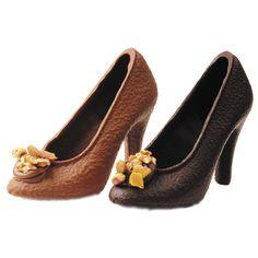 Chaussure en chocolat - lait ou noir - Talons aiguilles en chocolat ! Un cadeau super original !