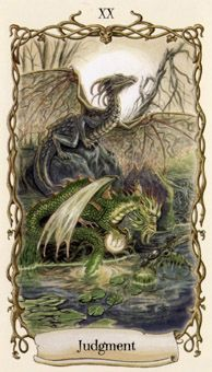 January 9 Tarot Card: Judgment (Fantastical Creatures deck) This is a time of awakening, but you must open your eyes and your heart wide enough to see the path that lies before you