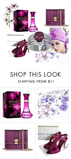"""""""Orchid"""" by kiane-acza on Polyvore featuring beauty, Roberto Cavalli and Manolo Blahnik"""