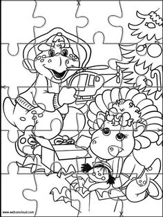 Printable Jigsaw Puzzles To Cut Out For Kids Barney And Friends 21 Coloring Pages