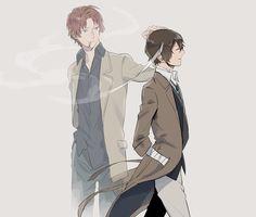 Sakunosuke Oda y Dazai Osamu || BSD