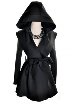 Charming Single Breasted Long Sleeve Trench Coat Black