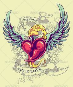 3d Leg Tattoos, Cover Up Tattoos, Body Art Tattoos, Tattoo Old School, Heart With Wings Tattoo, Sacred Heart Tattoos, Cute Heart Drawings, My Drawings, Traditional Heart Tattoos