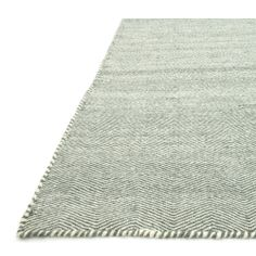 Hand-woven Poplin Aqua Wool/ Cotton Rug ( 7'10 x 11) | Overstock.com