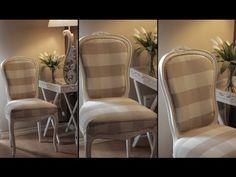 Restaurar, tapizar, y pintar una silla de la A a la Z - YouTube