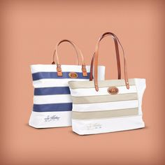 Carry your essentails in style this summer with La Martina's striped bag!