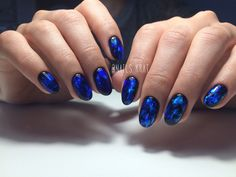 Black and blue nails, Christmas nails, Cold nails, Marble nails, New Year nails 2017, New year nails ideas 2017, New years nails, Oval nails