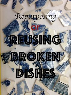 40 Brilliant Ways to Repurposing or Reusing Broken Dishes (Crockery) At Home (Hobby Lesson) Broken Glass Crafts, Broken China Crafts, Broken Glass Art, Broken China Jewelry, Mosaic Diy, Mosaic Crafts, Mosaic Projects, Art Projects, Mug Crafts