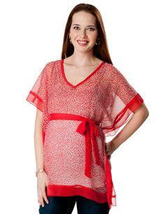 Short Sleeve Belted Maternity Tunic