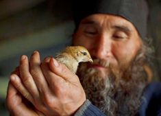 An Christian Orthodox monk with a bird! Religion, Bird People, Religious Images, Orthodox Christianity, We Are The World, Orthodox Icons, Cool Pictures, Saints, Blackbird