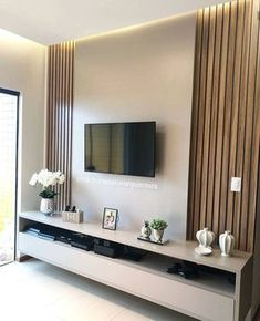 Minimalist Living Room Ideas - Planning to enhance and also fine-tune your living space? Here minimalist living-room that will motivate your spring-cleaning efforts. Living Room Tv Cabinet Designs, Living Room Cabinets, Living Room Designs, Tv Cabinets, Kitchen Living, Mdf Fendi, Modern Tv Wall Units, Sala Grande, Tv Wall Design