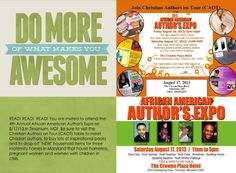 "It's official! A study proves that reading really does make you more AWESOME.  That's all the more reason why you should join Christian Authors on Tour (CAOT) at the 4th Annual African American Author's Expo on Saturday, August 17th from 11 a.m. - 5 p.m.  Visit www.christianauthorsontour.com and click on the ""TOUR SCHEDULE"" tab for more details!"
