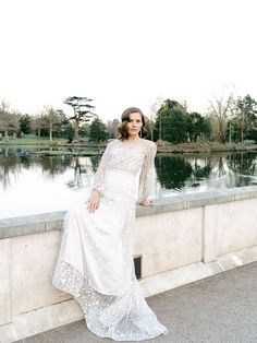 This sparkling sequin wedding gown is perfect for the vintage-loving bride I Image by Sara Cooper Sequin Wedding, Wedding Gowns, Elegant Ball Gowns, Romantic Lace, Elopement Inspiration, Bridal Fashion, Bridal Style, Wedding Blog, Countryside