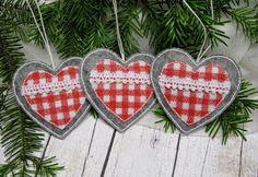 Filcowe serduszka - Felt hearts