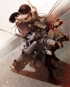 Levi x Eren ~ Ereri [Attack on Titan; Shingeki no Kyojin]    http://miraiiboy.tumblr.com/post/129558295959/yaoimakesmyworldgoround-source-nk33