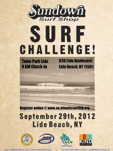 Sundown Surf Shop surf challenge is on Sept. 29th. Get out there and watch local NY surfers doing their thing.