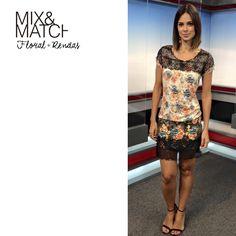 Vera Viel linda com vestido MOB. O mix de rendas e estampa floral é perfeito para um visual feminino e sexy na medida certa.