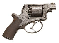 Major Heros Von Borcke's inscribed Trantor double-action percussion revolver  with shortened barrel- very effective in close quarters mounted combat. Von Borcke, was a big man who wielded a huge sword, was the closest to JEB Stuart. When severely wounded in 1864, he returned to his native Germany. He always flew the Confederate flag from his castle and his daughter was named Virginia.