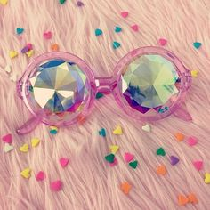 h0les glasses in pink classic