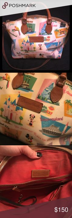 Retro Disney Novelty Print Dooney & Bourke With cross body strap. Red lining. Used, but still has lots of life left Dooney & Bourke Bags Shoulder Bags