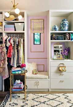 If you've ever fantasized about transforming your closet into a glamorous haven, let Mimosa Lane blogger Albertina Cisneros be your guiding light. In just six weeks, she DIYed a walk-in closet so