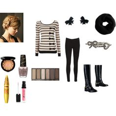 """""""bows and stripes"""" by mercedesandhoss on Polyvore"""