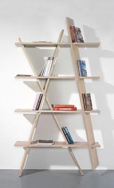 Nordic oak bookshelf for all the little things.