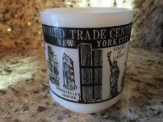 Vintage Glassbake World Trade Center Milk Glass Mug by CottageHillCrafts on Etsy
