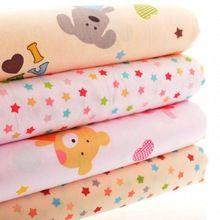 Tecido de algodão Telas para Handmade pano Patchwork para almofada saia Craft Bag cortina boneca para 4 projetos coelho e estrelas 20 x 25 cm(China (Mainland))