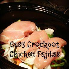 Easy Crockpot Chicken Fajitas Recipe