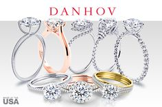 Danhov engagement rings. Uniquely handmade in the USA.