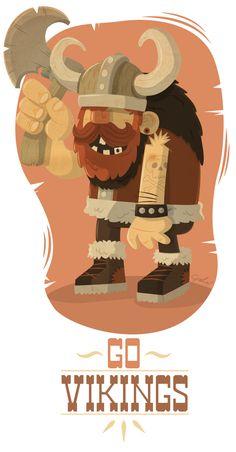 Gabo Galicia / Mr Lemonade, Diseño de personajes, Ilustración, Motion Graphics de León, México. Proyecto: :: Go Vikings :: http://www.behance.net/gabogalicia