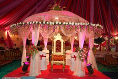 Indian Weddings- Grand Pink Mandap  Posted by Soma Sengupta