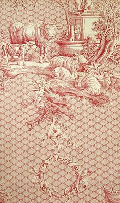 1000 images about fabulous fabrics and wallpapers on - Papel pintado toile de jouy ...