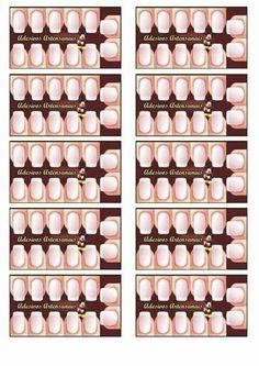 Cartão para adesivos de unhas Manicure, Love Nails, Nail Tech, Cartoons, Fragrance, Nail Art, Tags, My Love, Fashion