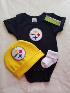 Steelers Baby Clothes Love My Steelers Baby Dress Outfit  Pittsburgh Steelers Baby