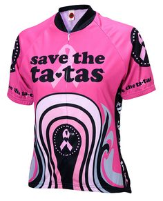 Save the ta-tas Womens Cycling Jersey Cycling Wear 243ea9118