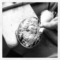 Expertly Detailed Hand carved Cameo