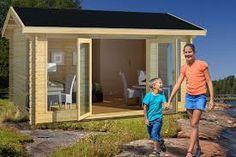 Resultado de imagem para kesäkeittiö Villa, Small Sheds, Irene, Interior Architecture, Interior Design, Outdoor Structures, Garden, Outdoor Decor, Studios