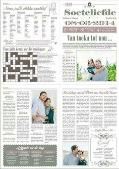 Wedding newspaper Plan Your Wedding, Wedding Tips, Dream Wedding, Wedding Day, Wedding Stuff, Wedding Stationary, Wedding Programs, Wedding Invitations, Wedding Newspaper