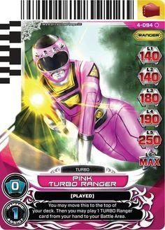Pink Turbo  Power Ranger trading card