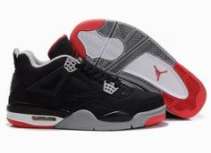 reputable site 459b3 2d884 Buy Discount Air Jordan Retro 4 Black Cement Grey Fire Red from Reliable  Discount Air Jordan Retro 4 Black Cement Grey Fire Red suppliers.